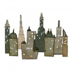 Fustella Sizzix Thinlits T.Holtz - Cityscape, Metropolis