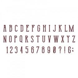 Sizzix Bigz XL T.Holtz Alphabet Die - Broadway