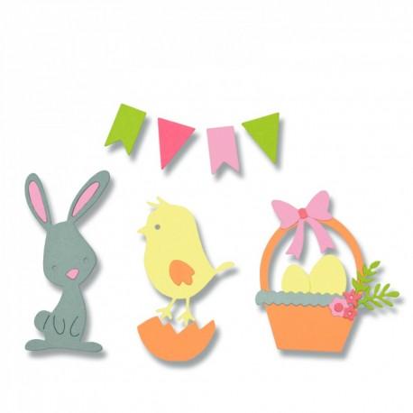Fustella Sizzix Thinlits - Easter