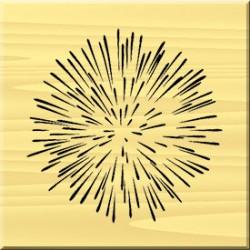 Timbro in legno Artemio - Fuochi d'Artificio