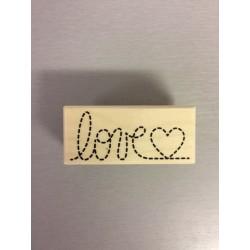 Timbro in legno Artemio - Love 2