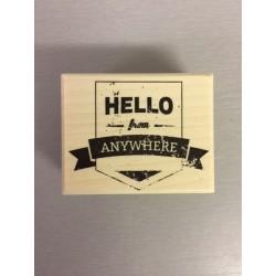 Timbro in legno Artemio - Hello from Anywhere