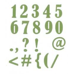 Fustella Impronte D'Autore - Numeri Serif