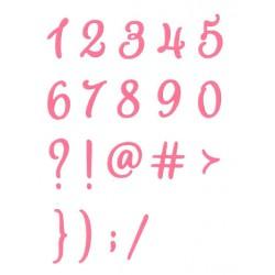 Fustella Impronte D'Autore - Numeri Corsivo