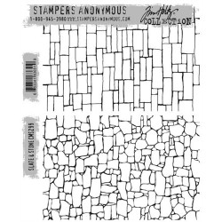 Timbro Cling Tim Holtz - Slate & Stone