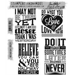 Timbro Cling Tim Holtz - Motivation 3