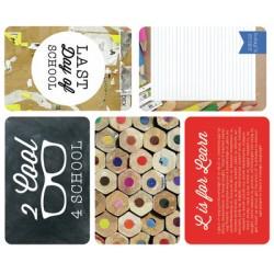 """Journal Cards Kaisercraft - 4x6"""" - School Days"""