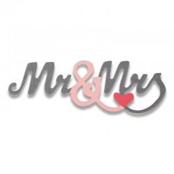 Fustella Sizzix Thinlits - Mr. & Mrs. 2 Mini