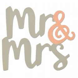Fustella Sizzix Bigz - Mr. & Mrs.