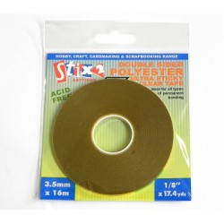 Biadesivo Stix2 ULTRA FORTE - 3.5mm x 16m Polyester clear