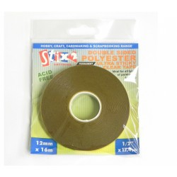 Biadesivo Stix2  ULTRA FORTE - 12mm x 16m Polyester clear