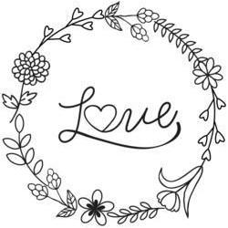 Timbro Legno Aladine - Love