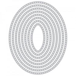 Fustella Sizzix Framelits - Dotted Ovals
