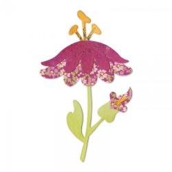 Fustella Sizzix Bigz - Flower w/Leaves & Stem 4