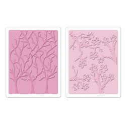 Fustella Sizzix TI - Cherry Blossoms & Trees Set