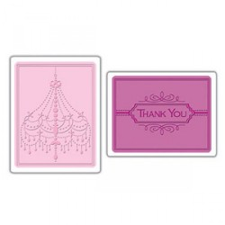 Fustella Sizzix TI - Chandelier & Thank You Set