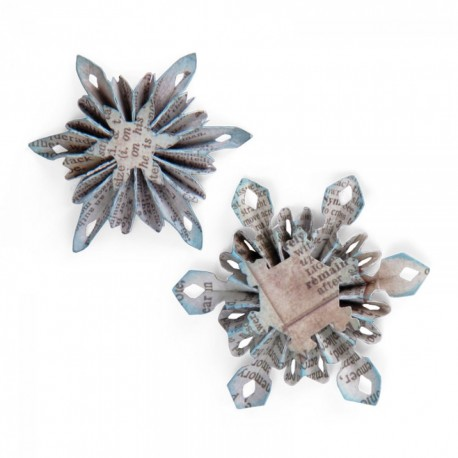 Fustella Tim Holtz Mini Snowflake Rosettes (2 Sizes)