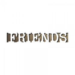 Fustelle Sizzix Movers & Shapers Magnetic Die - Friends