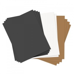 Sizzix Paper Leather Sheets - Fogli Ecopelle 8 1/2 x 11 inch