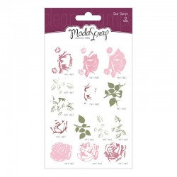 Timbro Clear ModaScrap Clear Stamps - Vintage Rose