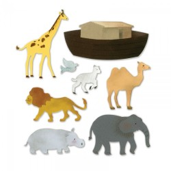 Fustella Sizzix Bigz XL - Noah's Ark W/Animals