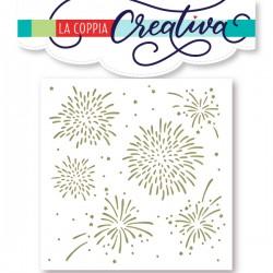 Stencil La Coppia Creativa - Fuochi d'artificio