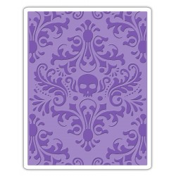 Embossing Folder Tim Holtz - Damask Skull