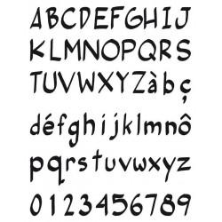 Timbro in silicone Toga - Alfabeto