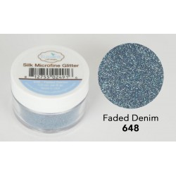Silk Microfine Glitter - Faded Denim