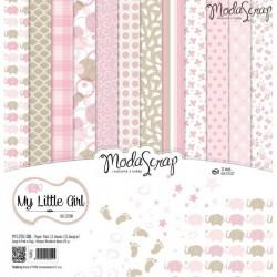 Kit carte ModaScrap - My Little Girl
