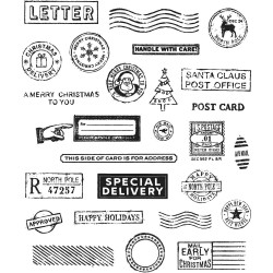 Timbro Cling Tim Holtz - Holiday Postmarks