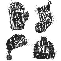 Timbro Cling Tim Holtz - Carved Christmas 1
