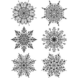 Timbro Cling Tim Holtz -  Swirly Snowflakes