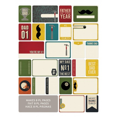 Kit 40 carte - Becky Higgins - Dad