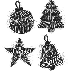 Timbro Cling Tim Holtz - Carved Christmas 2