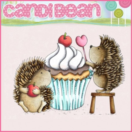 Timbro Candi Bean - Happiness is a cupcake