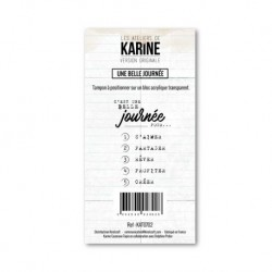 Timbro clear - Les Ateliers de Karine - Ene belle Journèe