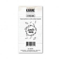 Timbro clear - Les Ateliers de Karine - Je vous aime