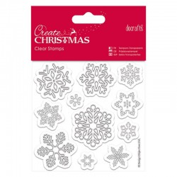 Timbro clear Docrafts - Snowflakes