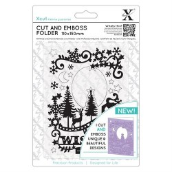 Embossing Folder Docrafts - Xcut - Winter Wishes