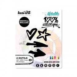 Fustella Kesi'Art -  COUPS DE PINCEAUX -  100% Artistique