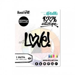 Fustella Kesi'Art - LOVE!  -  100% Artistique