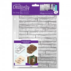 Timbro clear Docrafts - Wooden Boards Background