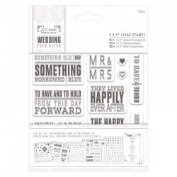 Timbri clear - Docrafts - Papermania- Topper Sentiments