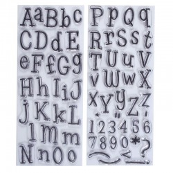 Timbri clear - Docrafts Papermania - Leftovers Alphabet