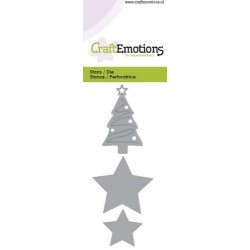 Fustella Craft Emotions - Christmas tree, star