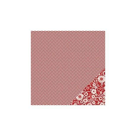 Cartoncino american craft - Rouge chevron