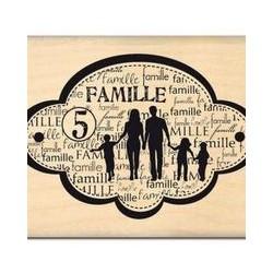 Timbro legno Florileges - FAMILLE DE CINQ