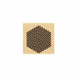 Timbro legno Florileges - HEXAGONE RAYONNANT