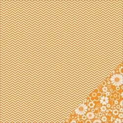 Cartoncino american craft - Apricot chevron